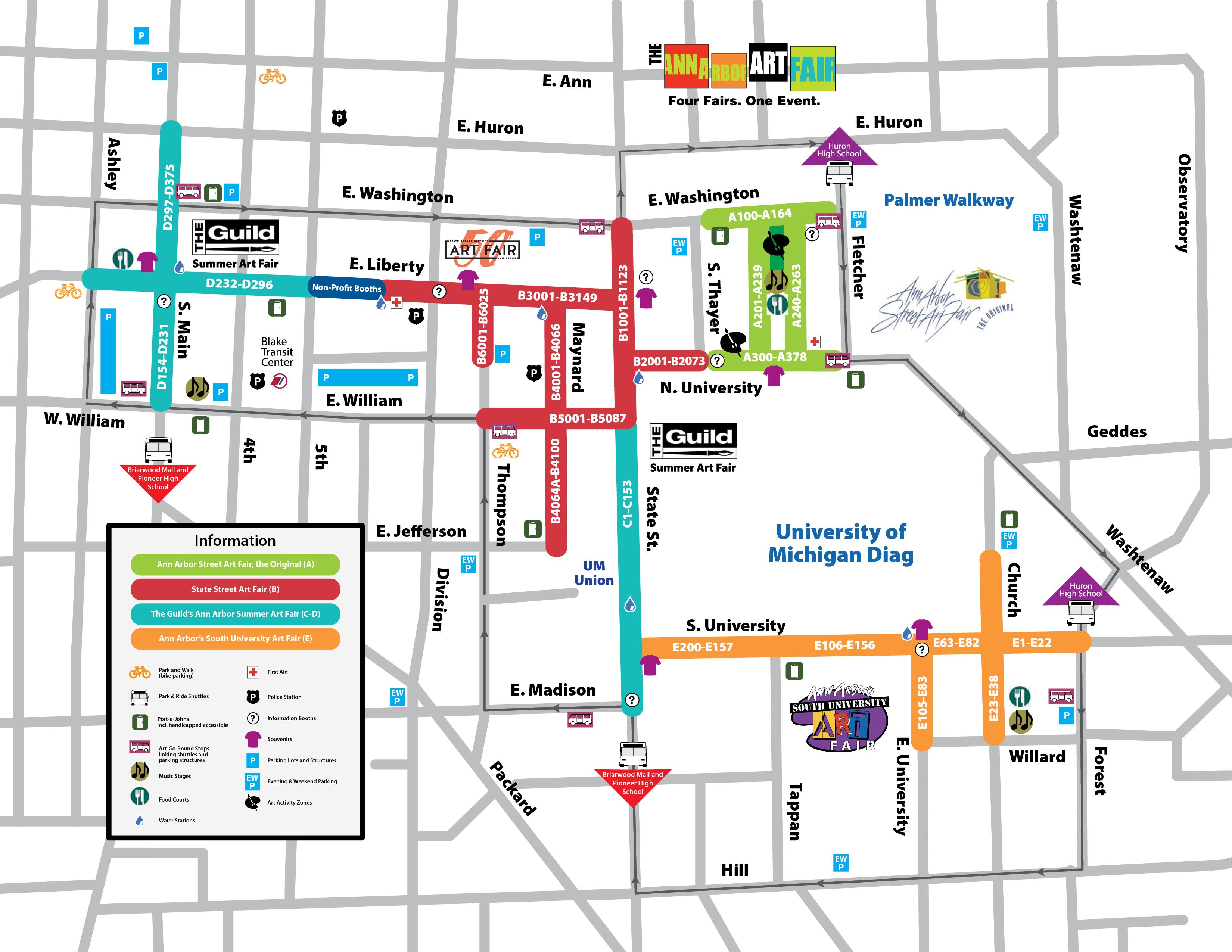 Ann Arbor Street Art Fair The Original - Ann arbor map